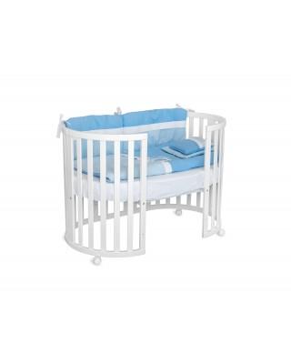 Детско дървено легло Jezgro 3в1 бяло