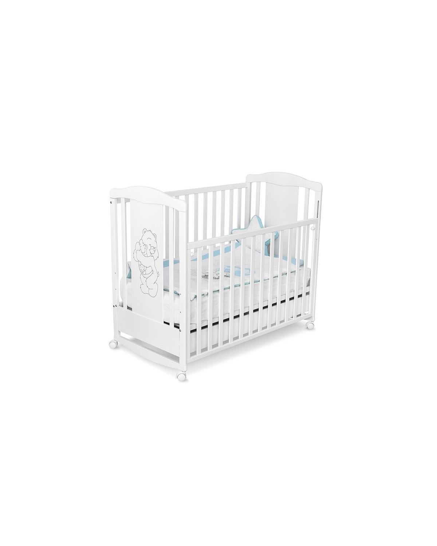 Детско дървено легло Буцко - Lux бяло с чекмедже