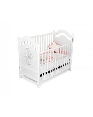 Детско дървено легло Буцко - Velko бяло
